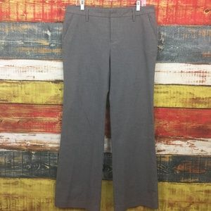 GAP Stretch Trousers Size 12 Long Gray Career